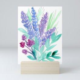 Lavender Floral Watercolor Bouquet Mini Art Print