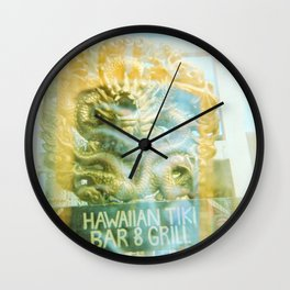 Hawaiian Tiki Wall Clock