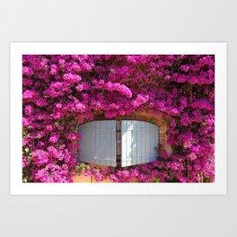 Flowers at Cote d'Azur France Art Print