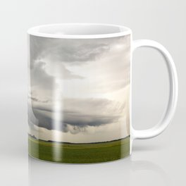 Shelf Cloud Over a Soybean Field Coffee Mug