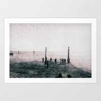 Wharf Art Print