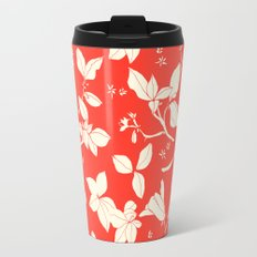 Drawings from Stonecrop Garden, Pattern in Red Travel Mug