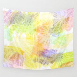 Watercolour Leaves Texture Wall Tapestry
