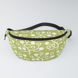 Mid Century Modern Berries Pattern Chartreuse 2 Fanny Pack