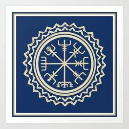 Viking Vegvisir Compass Art Print