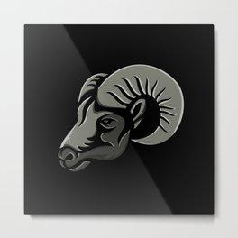 Bighorn Sheep Metallic Icon Metal Print