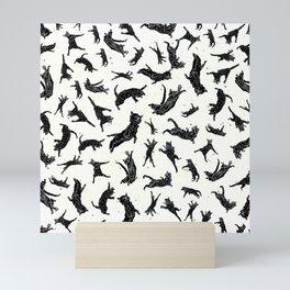 Shadow Cats Space Mini Art Print