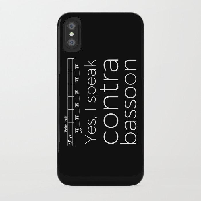 Yes, I speak contrabassoon iPhone Case