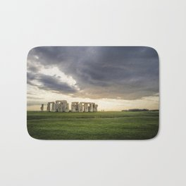 Sunset on Stonehenge Bath Mat