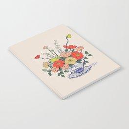 Teacup Flowers Notebook