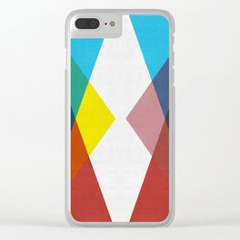 Colorful Triangles I Clear iPhone Case
