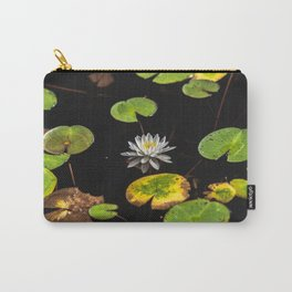 Water Lilies II - Lilly Pad Flower Nature Photography Carry-All Pouch