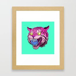 Floppy Disk Tiger Framed Art Print