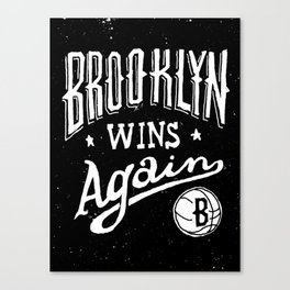 Brooklyn Wins Again (Away) Canvas Print
