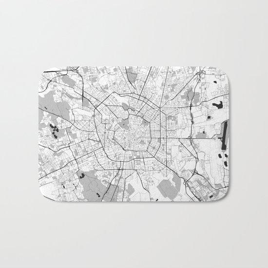Berlin Map Gray Bath Mat