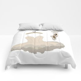 Ballerina dress and pointe shoes pattern Comforters