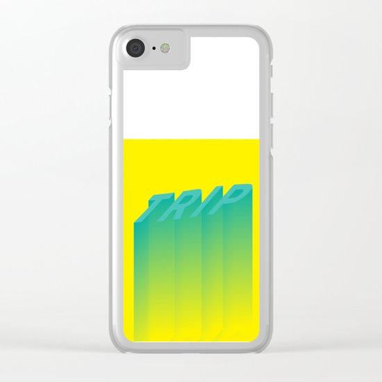 Trip Out Clear iPhone Case
