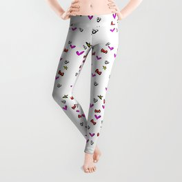 Polka dots, bows, and love Leggings
