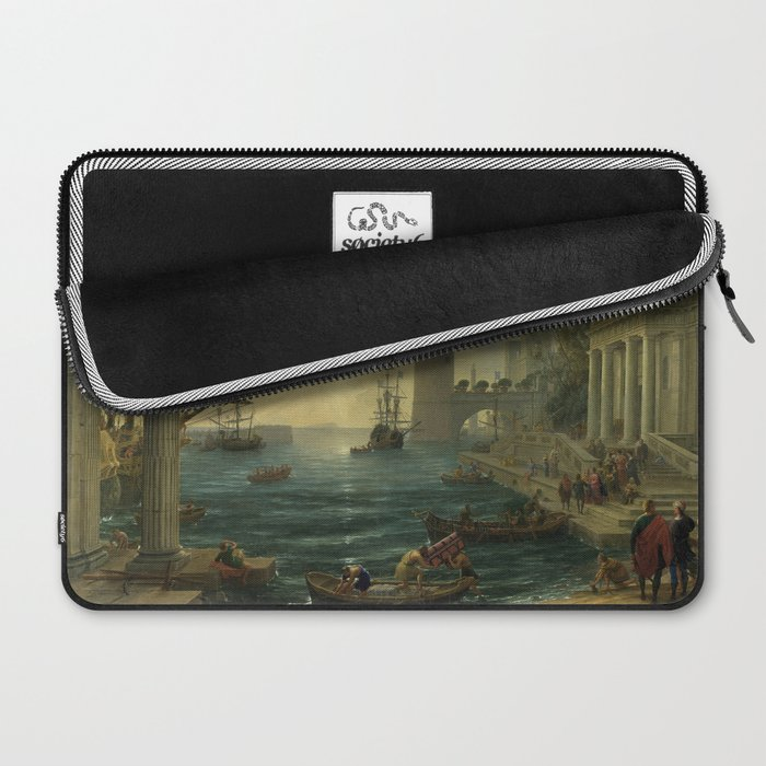Seaport with the Embarkation of the Sun Laptop Sleeve