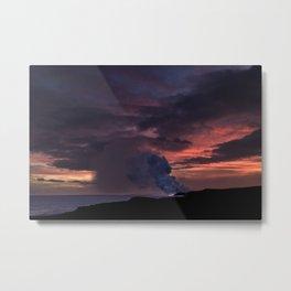Sunset at Kalapana Metal Print