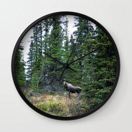 Mr. Moose Way Up North Wall Clock