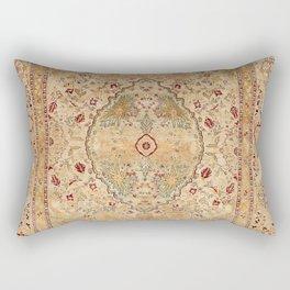 Silk Tabriz Azerbaijan Northwest Persian Rug Print Rectangular Pillow