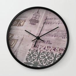 Vintage Paris Art Journal Wall Clock