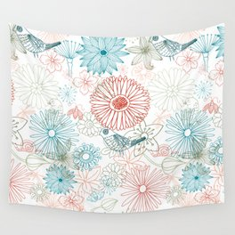 Floral dreams Wall Tapestry