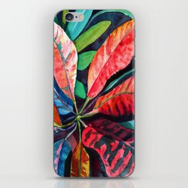 Colorful Tropical Leaves 2 iPhone Skin
