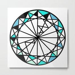 Sapphire blue diamond - circle Metal Print