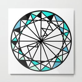 Sapphire blue diamond - circle Metal Print