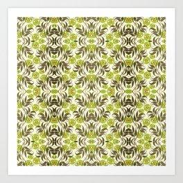 Green Garden Pattern 2 Art Print