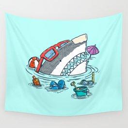 Beach Party Shark Wall Tapestry