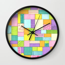 Pretty in Pastels Wall Clock