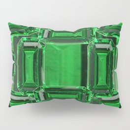 Emerald Gems May Babies Birthstones on Purple Pillow Sham