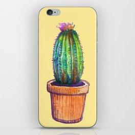Cactus on Yellow iPhone Skin