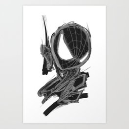 Black Spider Art Print
