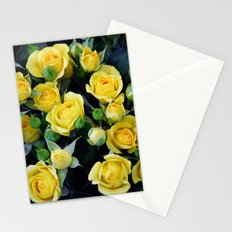 Bright Yellow Roses Stationery Cards