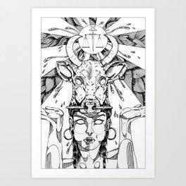 ethnicgirl Art Print