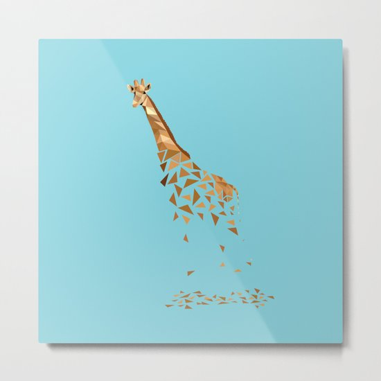 Giraffa Metal Print
