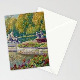 Lake and Gardens with Statuary Landscape by Nikolay Bogdanov-Belsky Stationery Cards