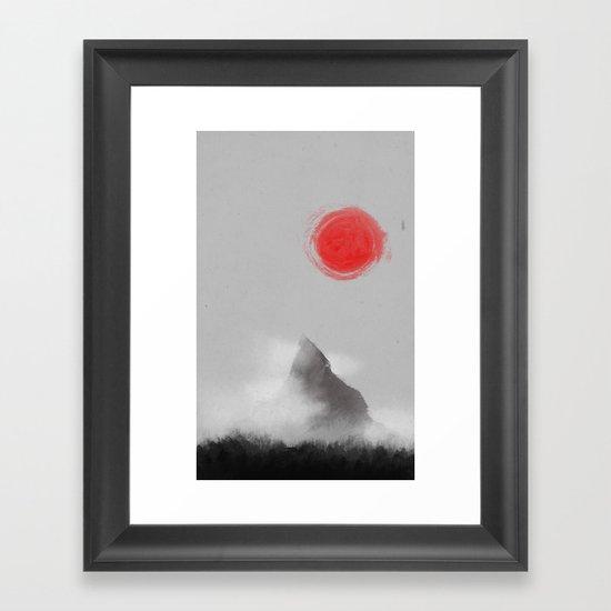 山- Mountain Framed Art Print