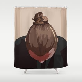 Man I Like Your Bun Shower Curtain