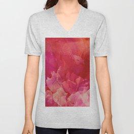Pink Blooms Unisex V-Neck