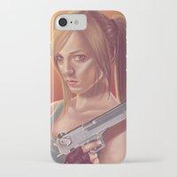 lara croft iPhone & iPod Cases featuring Lara Croft by Steven Herbers