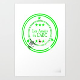 ABC Green Art Print