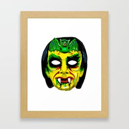 Retro Halloween Mask Vampire Framed Art Print