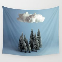 A cloud over the forest Wall Tapestry