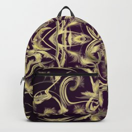 dark purple Digital pattern with circles and fractals artfully colored design for house and fashion Backpack