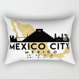 MEXICO CITY MEXICO SILHOUETTE SKYLINE MAP ART Rectangular Pillow